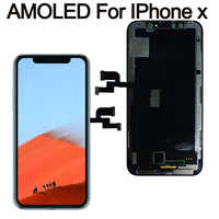 Grade pour iPhone X OLED LCD affichage GX pour IPhone XS AMOLED oled écran tactile OEM avec numériseur pièces d'assemblage de remplacement noir