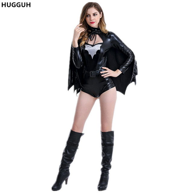 Hugguh Brand New Sexy Women Batman Costume Halloween Party Role Play