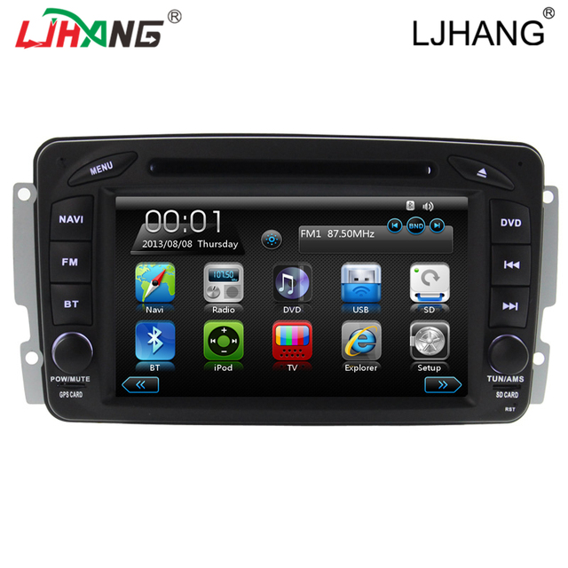 Free shipping  map car DVD Video Player for Mercedes W163 W168 W170 W203 W210 W463 C208 C209 with Radio BT GPS Ipod