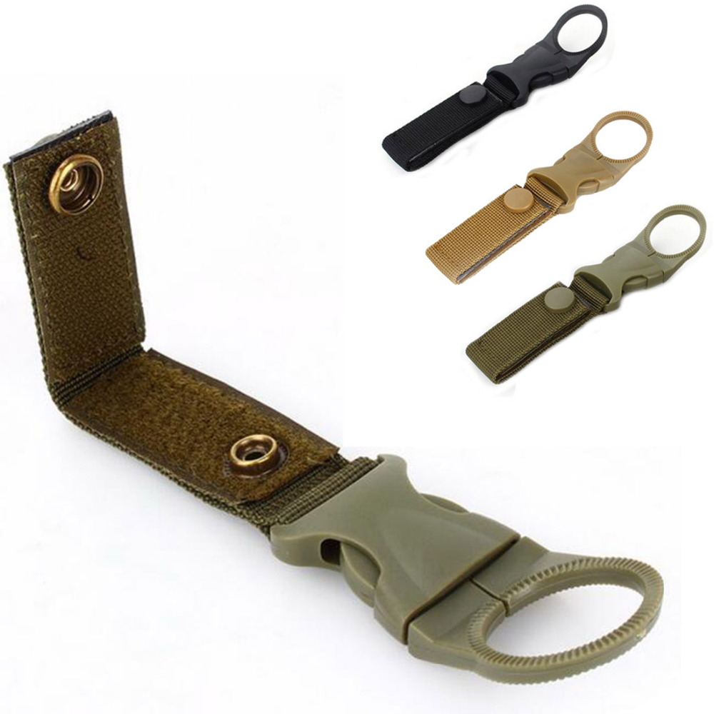 Outdoor military Nylon Webbing Buckle Hook Water Bottle Holder Clip EDC Climb Carabiner Belt Backpack Hanger Camping equipment edc bag tool army fan carabiner nylon webbing backpack buckle mini clip fashion
