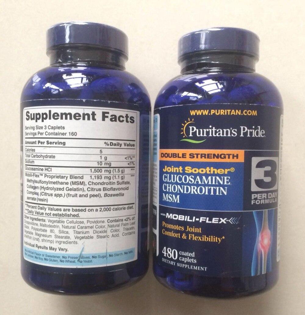 Americano di origine Doppio Forza Glucosamina Chondrotitn MSM promuove comune comfort e Flessibilità 480 pz