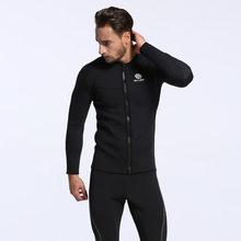 3mm negro de Surf hombres abrigo cloro buceo chaqueta para frío y caliente  de buceo de a5aa1c5309c
