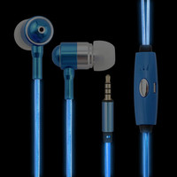 Universal Metal In Ear Luminous Effect Heavy Bass Music Phone Earphone With Diamonds Microphone For IPhone