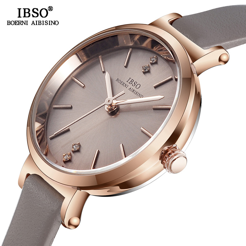 IBSO 8 MM Ultra-Thin Wrist Women Watches Luxury Female Clock Fashion Montre Femme 2019 Quartz Ladies Watch Relogio Feminino
