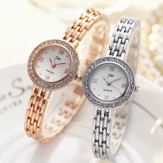 2017 New Brand JW Quartz Watch Women Luxury Gold &Silver Wristwatches Ladies Simple Crystal Bracelet Watches Female Clock Gifts 2017 new brand jw quartz watch women luxury gold