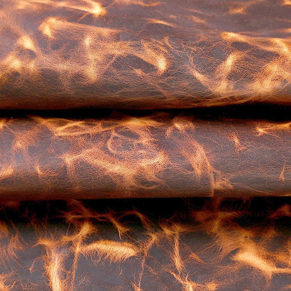 Passion Junetree peau de vache en cuir épais véritable en cuir sur 1.6-1.8mm peau de vache cru (environ 100x22 cm)