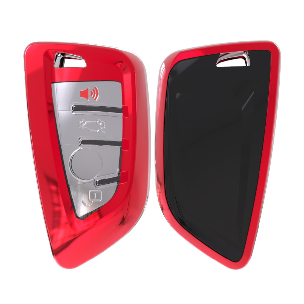 Soft TPU Remote Smart Key Cover Case Shell For BMW X1 X5 X6 530i 535i 540i 550i 740e 740i 750i 750Li GT xDrive 2014 2015 2016-in Key Case for Car from Automobiles & Motorcycles
