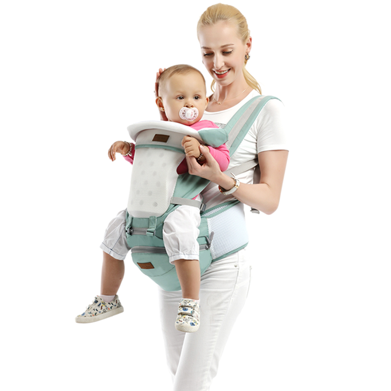 Baby Carrier Infant Baby Hipseat Sling Front Facing Kangaroo Baby Wrap for Baby Travel 0-36 Months
