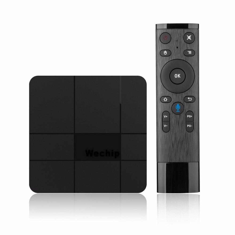 Voice control Wechip V8 plus smart TV BOX Android 7.1 4k S905W Quad-core Cortex-A53 Mali-450MP5 2.4G Wireless WIFI Set Top Box new xiaomi mi box s 4k tv box cortex a53 quad core 64 bit mali 450 android 8 1 2gb 8gb hdmi2 0 2 4g 5 8g wifi bt4 2 set top box