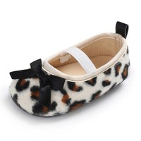 Hot Cute Baby Elastic Band Leopard Princess Shoes Soft Sole Non slip Shoes Toddler Girls First Walkers