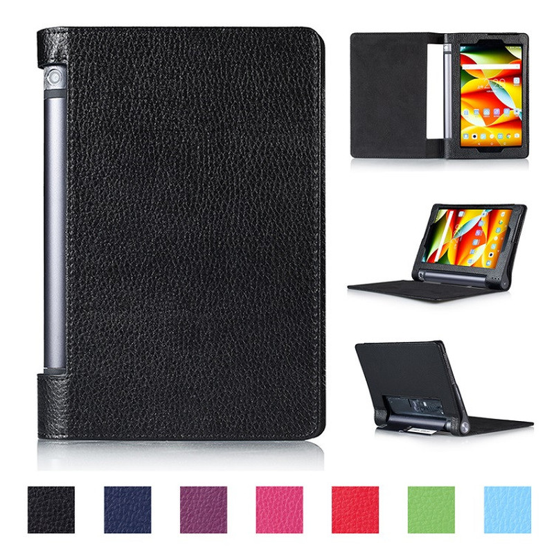 Flip Stand PU Leather Cover Case For Lenovo Yoga Tab 3 8.0 850F Yoga Tab3 8 YT3-850F YT3-850M Tablet Cover Case Capa Funda Glass