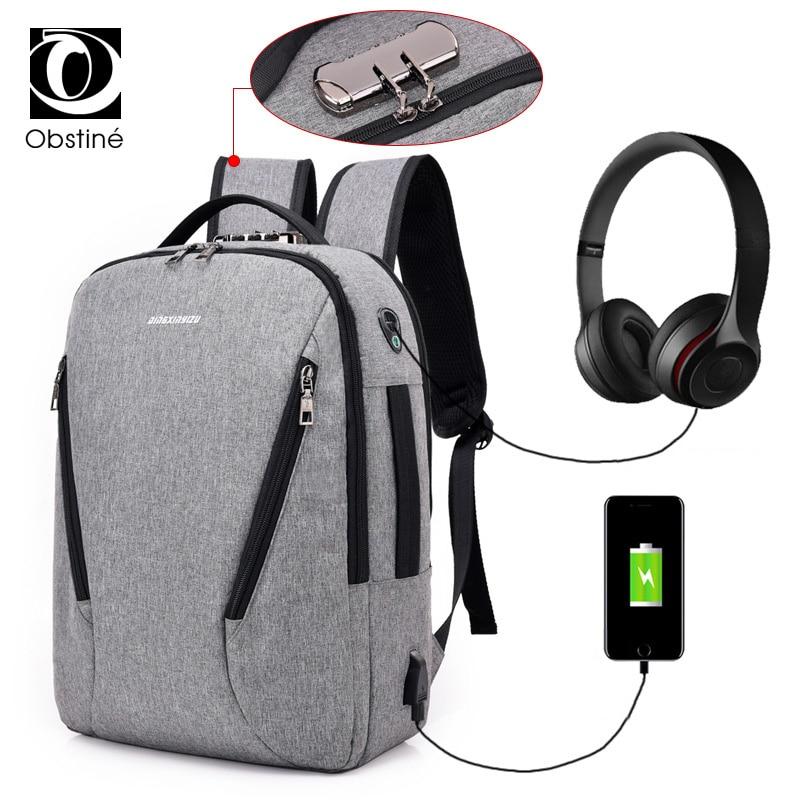 Anti Theft Backpack Usb Charger Backpacks For Men Female Schoolbag Laptop Bagpack For School Canvas Back Pack Women Backbag Bags