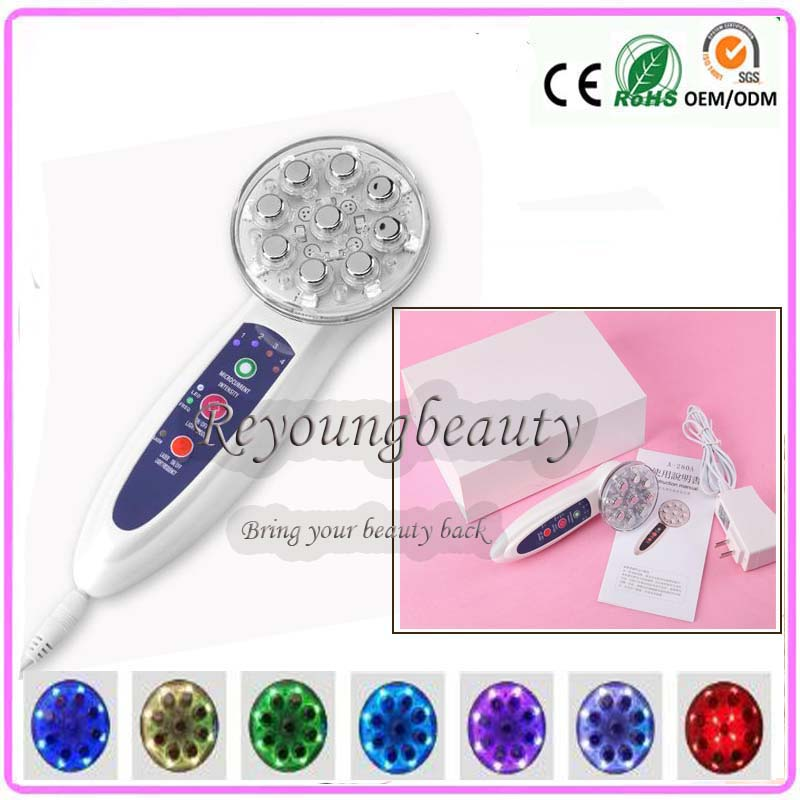 IPL 7 Colors Led Photon Skin Rejuvenation Skin Tightening EMS Face Body Beauty Slimming Firming Massasager Machine mini portable usb rechargeable ems rf radio frequency skin stimulation lifting tightening led photon rejuvenation beauty device