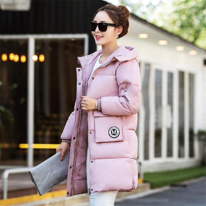 Kış kadın Moda Aşağı Sıcak Palto 2016 Yeni Varış Moda Uzun kollu Kapşonlu Ceketler İnce Stil Casual Parka Coat
