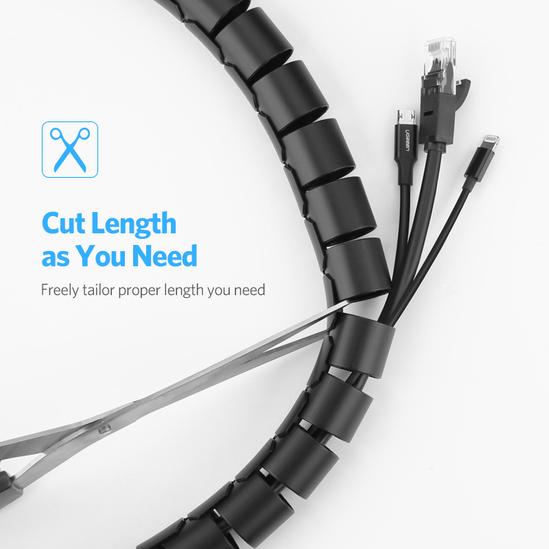 Ugreen Cable Holder Organizer 25mm Diameter Flexible Spiral Tube Cable Organizer Wire Management Cord Protector Cable Ugreen Cable Holder Organizer 25mm Diameter Flexible Spiral Tube Cable Organizer Wire Management Cord Protector Cable Winder