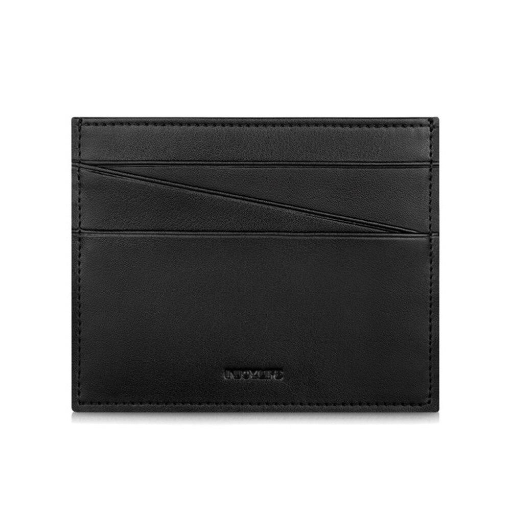 Mini portefeuille porte-cartes en cuir véritable pour hommes femmes cadeau d'affaires