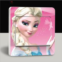 Old Passenger _ Switch Stickers Anna Elsa Princess Wall Stickers Lovely Parlor Kids Home Decor Cartoon Stickers For Bathroom