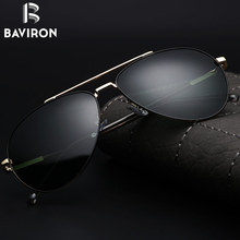 BAVIRON 2017 New Design Aviators Men Sunglasses Original Polarized Glasses Unisex Driving Eyewear UV400 Metal Frame Oculos 8001