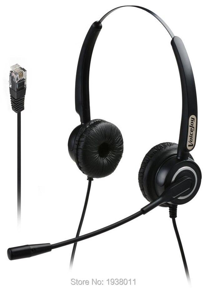 bilder für Extra 2 Ohrpolster + Binaurale headset mit mikrofon für Call Center Telefon Headset für AVAYA 1608 1616 9601 9608 9610 9611 9620 9630