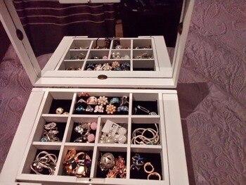 Luxury fashion Wooden princess huge super jewelry accessories storage organizer box case casket wedding Mother