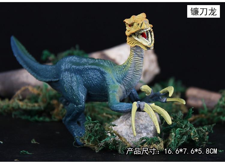 6st / set Plast Djur Figurer Sickle Dragon Triceratops Oklahoma - Toy figuriner