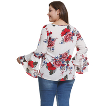 Women's Chiffon Blouse with Floral Print