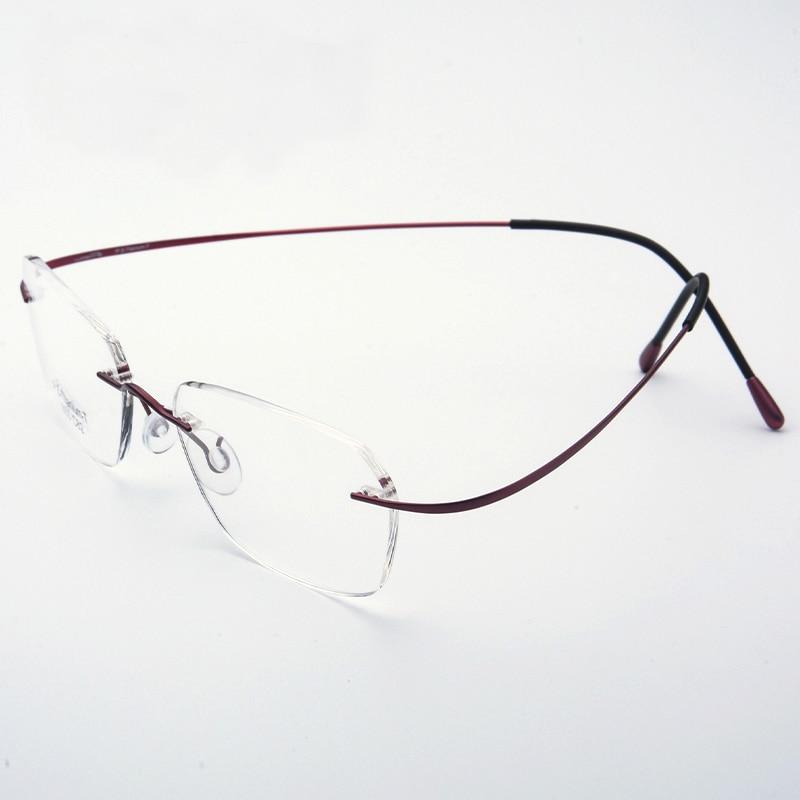 Saf Titan Gözlüklər Rimless çevik Optik Çərçivə Reçetesi - Geyim aksesuarları - Fotoqrafiya 3
