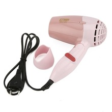 Mini Hair Dryer 1000W Hot Wind Low Noise Foldable Electric Hair Blower Hair Salon Styling Tools for Travel Home Use GW-662 1500w mini foldable hair dryer blower travel household electric hair blow dryer hot wind low noise hairdryer eu plug ac 220v
