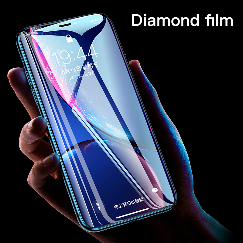 Galleria fotografica Transparent HD Screen Protector Tempered Glass For iPhone 11 XSMax XR XS X Full Cover Protective Film For iPhone 7 8 6 6s Plus
