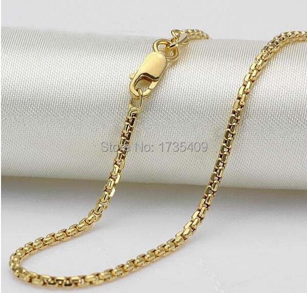 """AU750  Yellow Gold Necklace / Perfect Chain 3.9g / 17.7"""" L"""