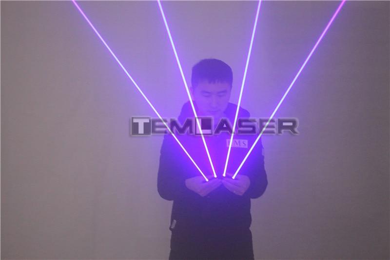 4 ədəd 450nm 80mW lazerli, çox işıqlı mavi lazer əlcəklər, - Şənlik aksesuarları - Fotoqrafiya 4