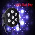 Fast Shipping led Luxury DMX Led Flat Par Light 7x12W RGBW 4IN1 8 Channels