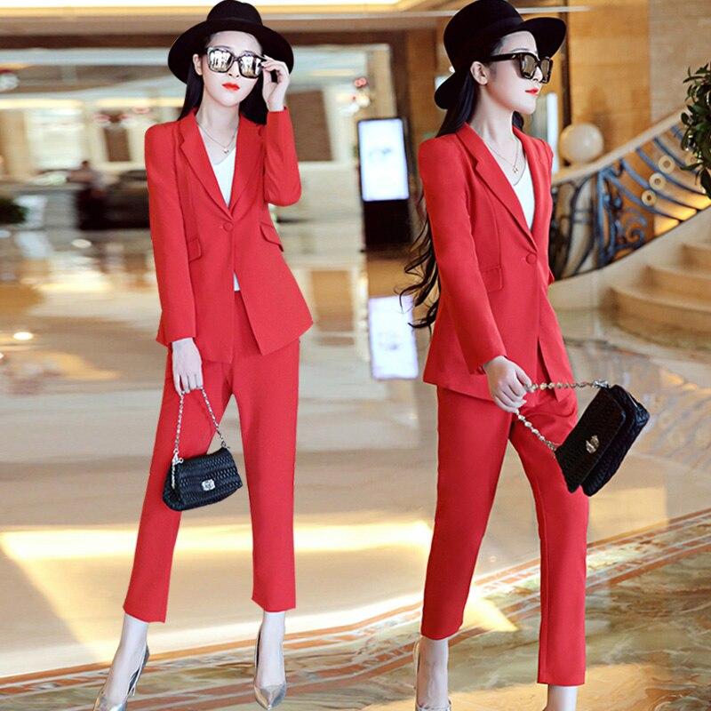 3 Tempérament Parfumé 1 Vent Féminine Rouge Petit Costumes 2 Slim Nouvelle Mode La Carrière Costume De Dames zwqaSH7H
