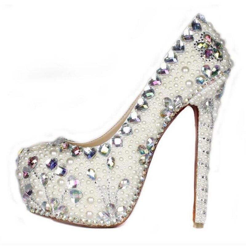 16cm ultra high heels Platform elegant womens italian sexy bridal shoes Rhinestones Pumps Wedding Shoes16cm ultra high heels Platform elegant womens italian sexy bridal shoes Rhinestones Pumps Wedding Shoes
