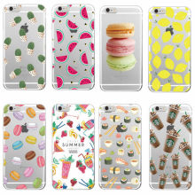 Food Fruit Starbuck s Pineapple Lemon Banana Cactus Strawberry Sushi Phone Case fundas For Samsung Galaxy J5 A3 A5 S5 S6 S7 edge