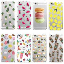 Food Fruit Coffee Pineapple Lemon Banana Cactus Strawberry Sushi Phone Case fundas For Samsung Galaxy J5