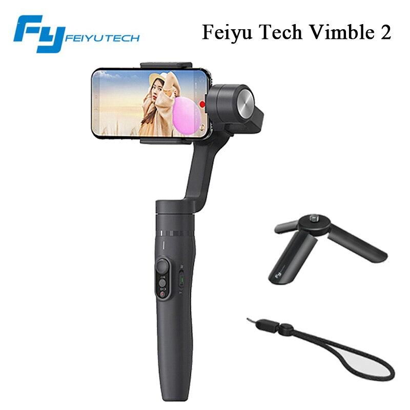 Feiyu tech vimble2 Mano-hold stabilizzatore con telescopico di estensione per iphone 8 x samsung del telefono video stabilizzatore