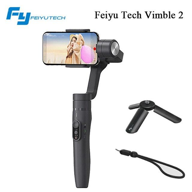 Feiyu tech vimble2 рук стабилизатор с телескопической расширение для iphone 8 x samsung телефон видео стабилизатор