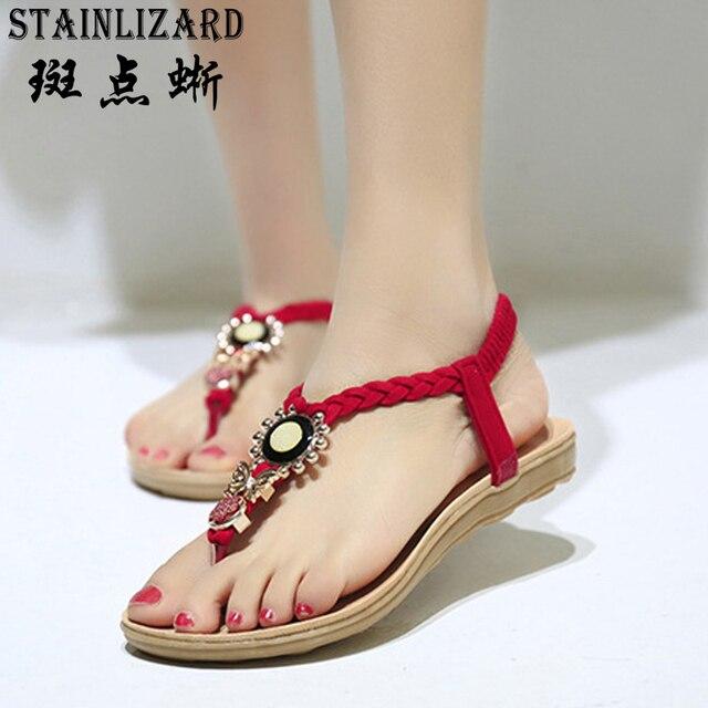 a72143150 Female Bohemia Women Casual Shoes Sexy Sandals Beach Summer Girls Flip Flops  Gladiator Fashion Cute Women Flats Sandals BT573