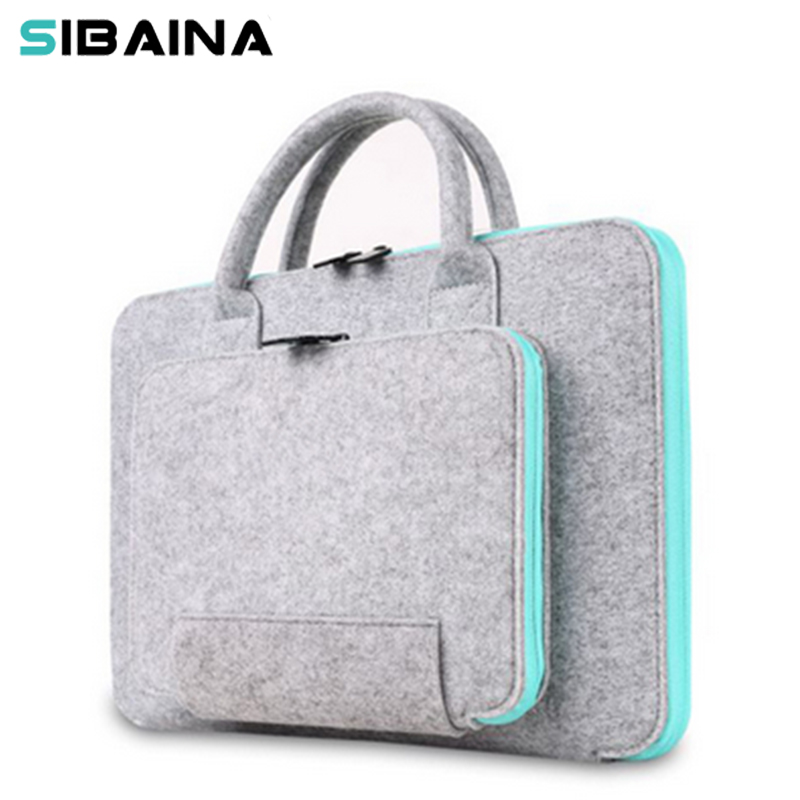 Wool Felt 11 12 13 15 15.6 inch Universal Notebook Computer Laptop Sleeve Bag Case for Macbook Air 13 Pro Retina Xiaomi HandBag 2017 newest hot sleeve case bag for macbook laptop air 11 12 13 pro retina 13 3 protecter wholesales drop free shipping