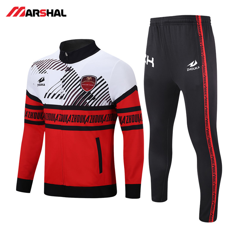 Team Sports Customize Logo Soccer Tracksuit Winter Football Training Uniforms Long Sleeve Jacket Light Version Jacket Lh0001