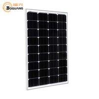 BOGUANG 50 W verre Monocristallin solaire power station solaire cellulaire usine pas cher vente 12 V panneau solaire pour la maison batterie charge