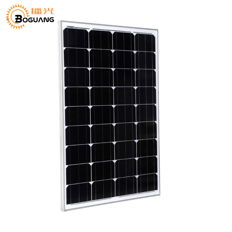 BOGUANG 50W glass Monocrystalline solar power station solar cell factory cheap selling 12V solar panel for home battery charge solarparts 2x 50w polycrystalline solar module by poly solar cell factory cheap selling 12v solar panel for rv marine boat use