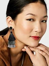 METABLE 1 PAIR Colorful Layered Tassel Earrings Bohemian Dangle Drop for Women Girls Tiered Druzy Stud Earring