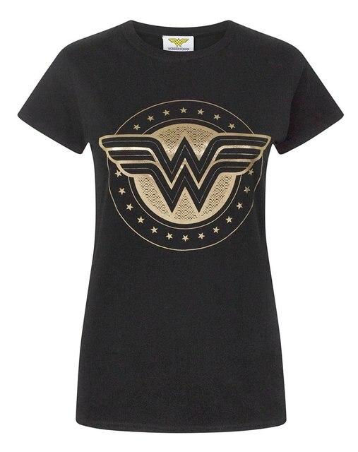 וונדר אישה מגן רדיד נשים של חולצה נשי חולצה Kawaii היפ הופ מותג אופנה קצר שרוול עגול צוואר ליידי חדש קיץ
