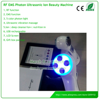 6 IN 1 Multifucntional Electroporation Mesotherapy RF EMS Led Light Photon Ion Ultrasonic Face Beauty Care