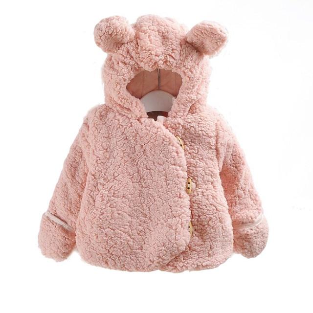 3161cecefc01 Female Baby Autumn And Winter Wear Thick Coat Infant Boys Girl Children  Fleece Cotton Coat Plus Velvet Out Clothes Plush Jacket