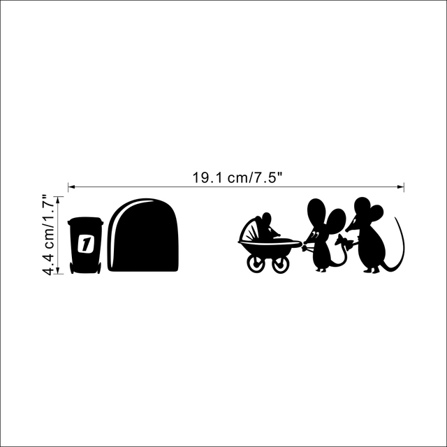 Mouse Hole Baby Mouse Wall Sticker