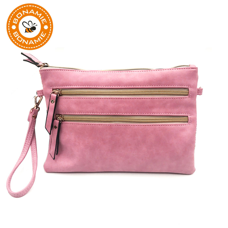 BONAMIE RFID Blocking Sweet Color Girl Handbag/Shoulder Bag Adjustable Shoulder Strap Urban Popular Style Female PU Handbags