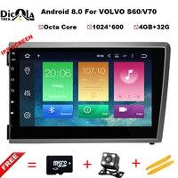 Octa Core 4G + г 32 г Android 8,0 dvd плеер автомобиля головное устройство для VOLVO S60 V70 XC70 2004 2000 Авто gps навигация Радио ips экран